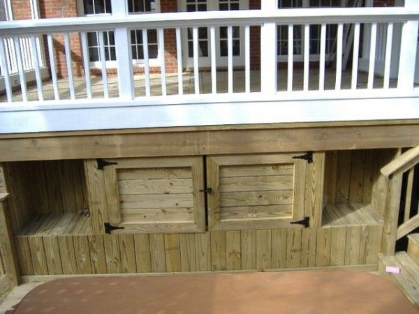 31 best deck skirting images on pinterest deck skirting for Under porch ideas