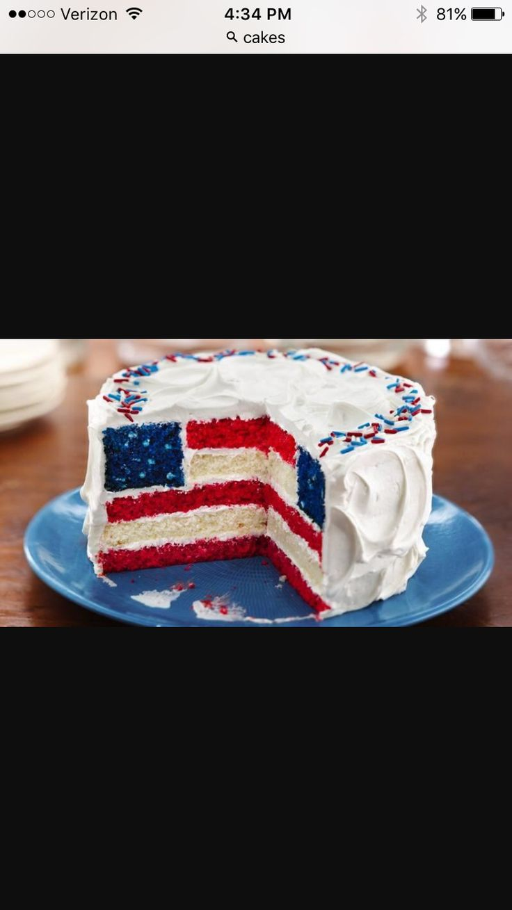 A great cake for the Fourth of July!