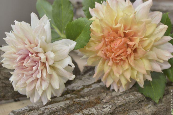 Купить Георгин(dahlia).Реалистичная флористика из глины. - оранжевый, осень, солнышко, георгины, осенние цветы