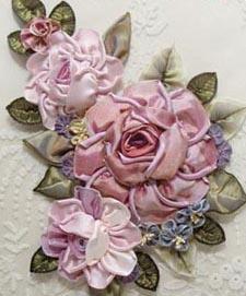 Elegant Roses Kit~Love Helen Gibb she hooked me back into ribbonwork with lovely Hannah Silks on HGTV