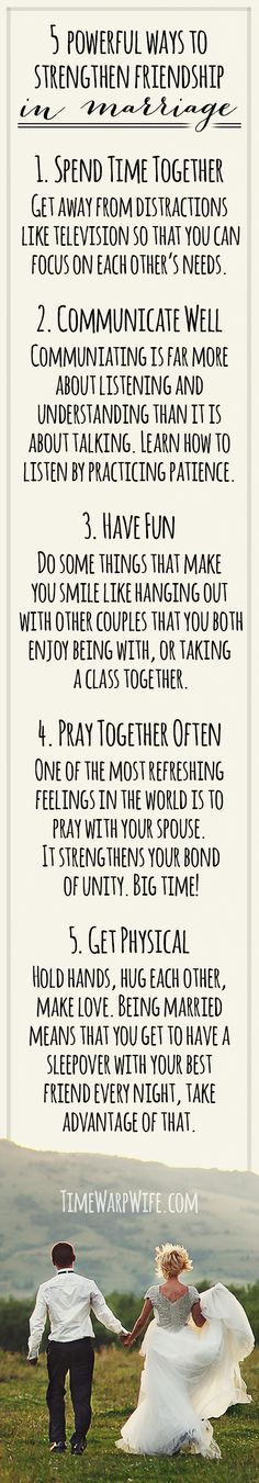 5 powerful ways to strengthen friendship in marriage.