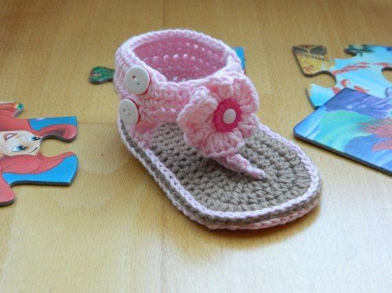 Sandalias bebé, Crochet, Ropa