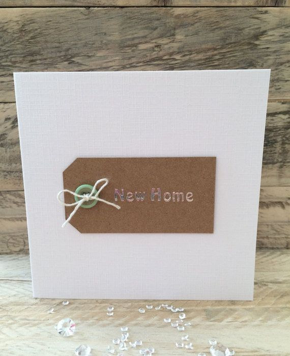 Handmade New Home Card - moving house – house warming – good luck in your new…