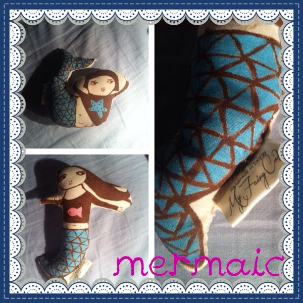 Mermaid Cuddle Toy Hand painted and sewn  by My Fairy Cakes On sale!!!!  Please visit my Facebook page My Fairy Cakes