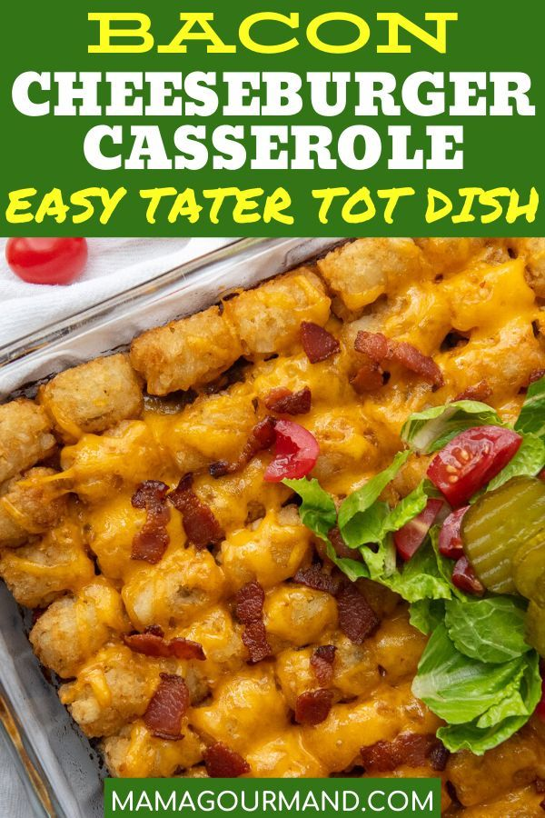 Cheeseburger Casserole Recipe In 2020 Cheeseburger Tater Tot Casserole Bacon Cheeseburger Casserole Ground Beef Casserole