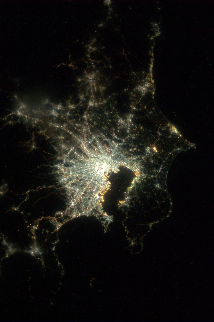 Tokyo, Japan.  Taken August 9, 2013.  KN from space.. Astronaut Karen Nyberg is pinning from space