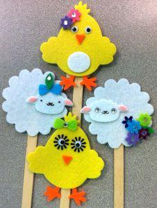 Cute felt finger puppets for Easter.