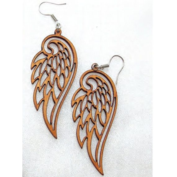 Single Layered Veneer Plywood Earring With Backing