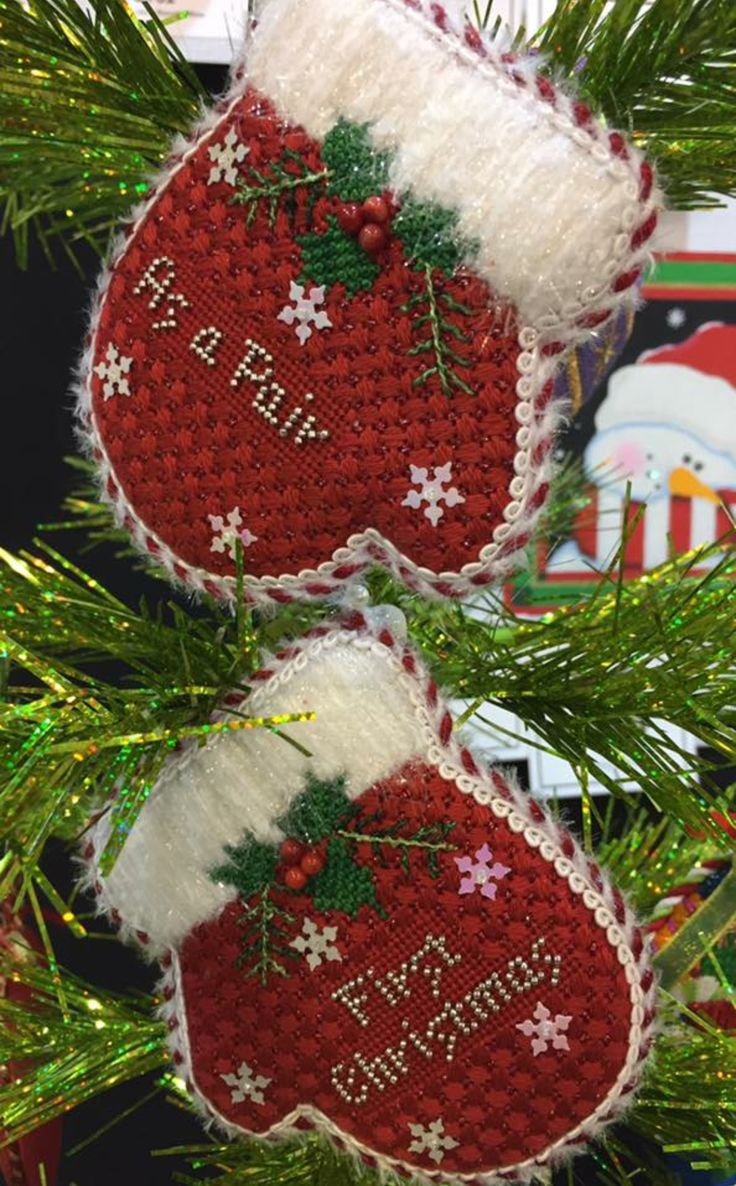 Graduation christmas ornaments - Card Boxes Needlepoint Christmas Ornaments