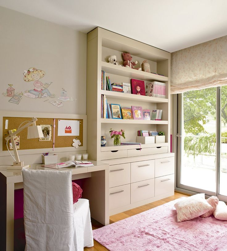 15 pines de escritorio infantil que no te puedes perder - Organizacion habitacion infantil ...