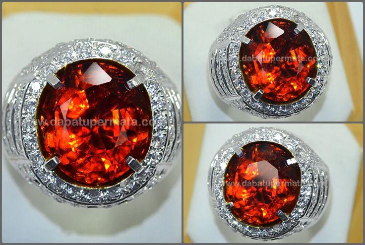 Sparkling Hot Orange PADPHARASCHA TOURMALINE Crystal - RTR 002 + MEMO