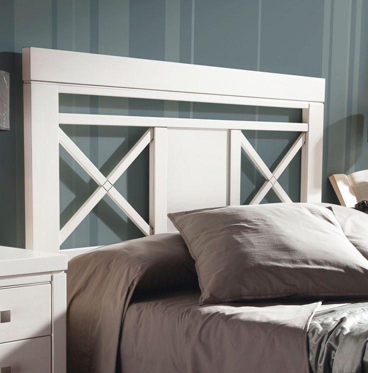 cabecero de cama con aspas madera haya