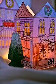Rebeccas DIY: Julby som lyktor * Christmas Village Lanterns