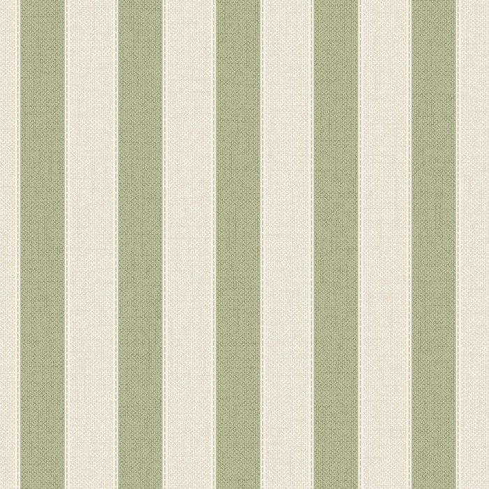 Ticking Stripe Spring Green Wallpaper by Graham and Brown