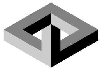 Galería de imagenes de www.educacionplastica.net :: Figuras Imposibles en Perspectiva Isométrica :: imposible4