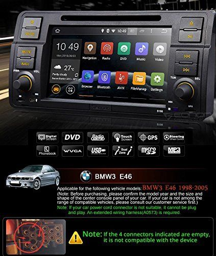 Eonon GA5150F In-Dash Car GPS Navigation Special for BMW 3 Series E46 M3 1998-2005 Car DVD Player Pure Android 4.4.4 Quad-core Receiver with 7 Inch Touchscreen