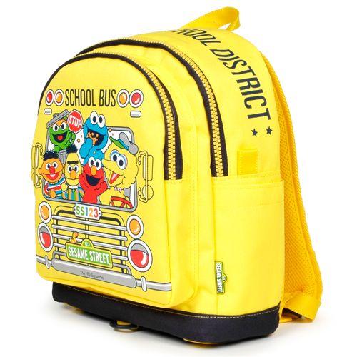 School Bus kids Big Pocket Backpack