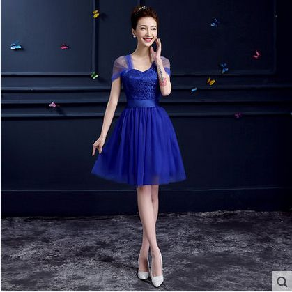 Royal Blue Bridesmaid Dress Short Sweetheart Pleat Knee Length Cheap Bridesmaid Dresses Under 50 Vestido De Festa De Casamento -inBridesmaid Dresses from Weddings & Events on Aliexpress.com | Alibaba Group