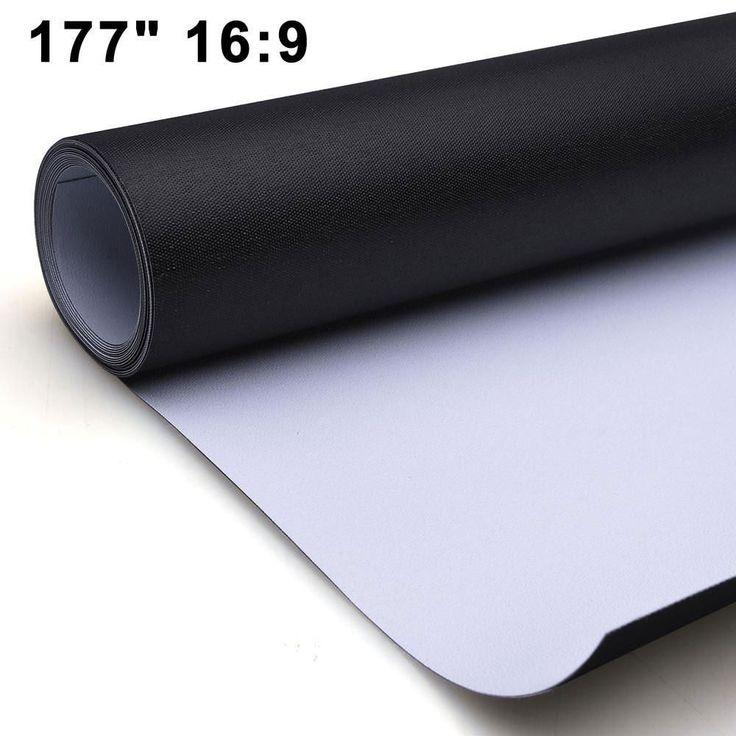 "Movie Projector Screen PVC Matte White Material 177"" 16:9 #projectorscreen #hometheaterprojector"
