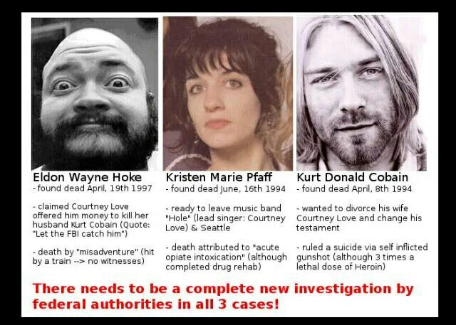 a report on the death of kurt cobain the leader of nirvana a grunge band Courtney love and frances bean cobain are fighting a battle with the journalist richard lee to stop the release of images that show the frontman of the rock band nirvana at the scene of his death.