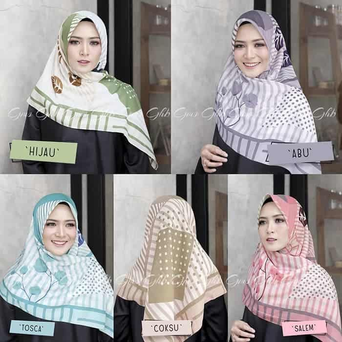 Tutorial Hijab Segi Empat Belah Samping Gaya Hijab Kursus Hijab Hijab