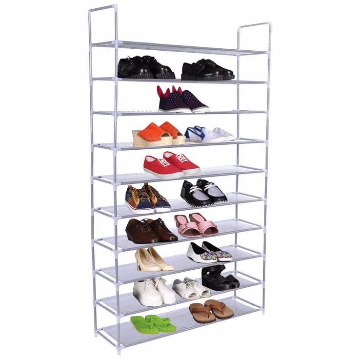 50 Pair 10 Ban Rak Sepatu Rak Penyimpanan Rumah Organizer Closet Kabinet Portabel HW52383