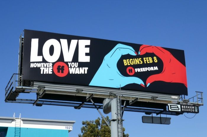 Halloween 2020 Billboards Love however the FF you want Freeform hand heart billboard in 2020