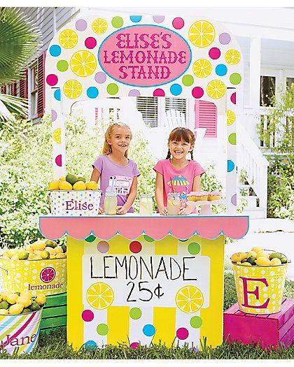 Cardboard lemonade stand dream home playhouse for How to make a lemonade stand out of cardboard