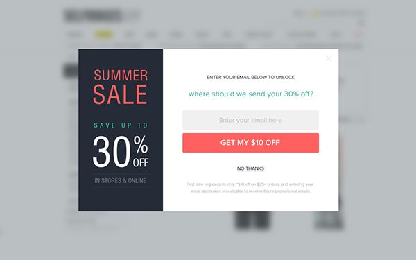 28 best form subscribe images on pinterest email for Pop window design