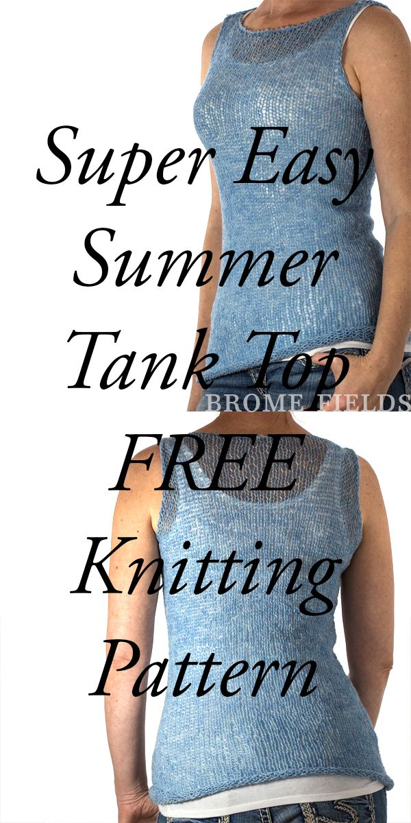 Grab this FREE TRUTHFULNESS Tank Top Summer Knitting Pattern, this is a super ea... 3