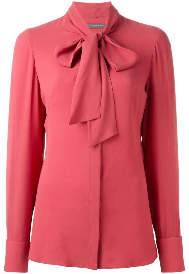 Alexander McQueen pussy bow blouse                                                                                                                                                                                 More