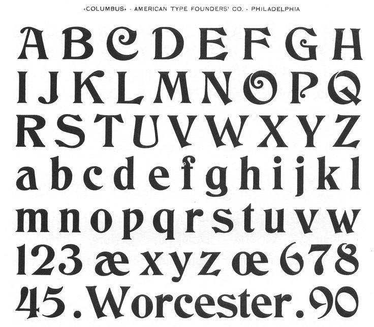 ATF typefaces