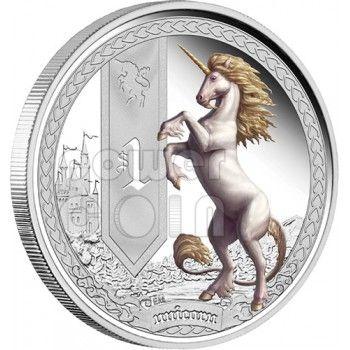 Beautiful Mythological Creatures | UNICORN Mythical Creatures Silver Proof Coin 1 Oz 1$ Tuvalu 2013 ...