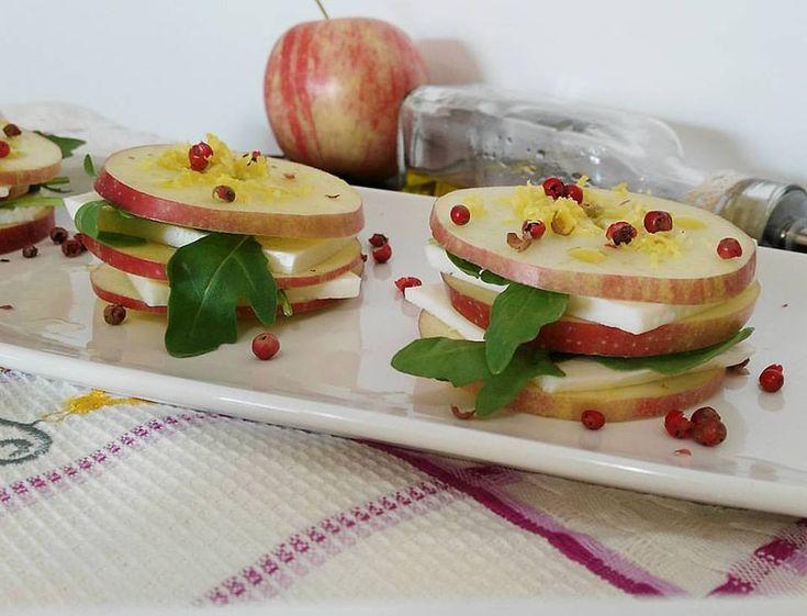 Millefoglie di mela e primo sale