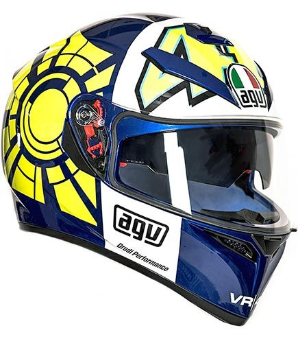 The brand new AGV K3 SV Rossi Winter Test rep