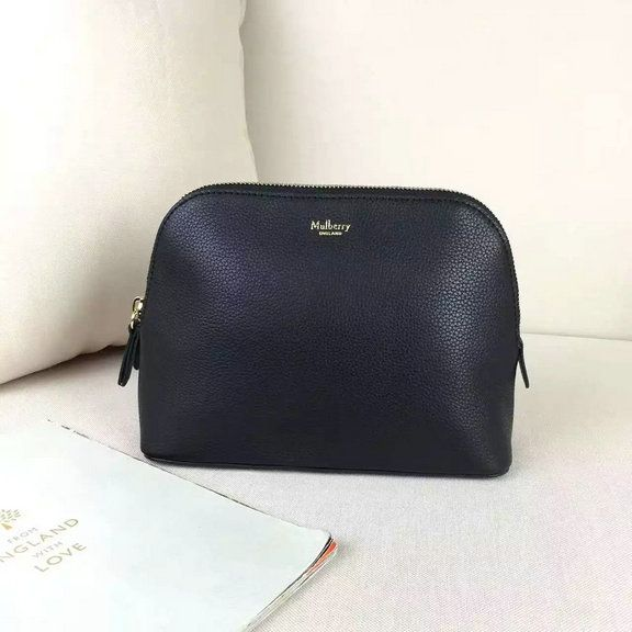 2016 A/W Mulberry Cosmetic Pouch Black Small Classic Grain