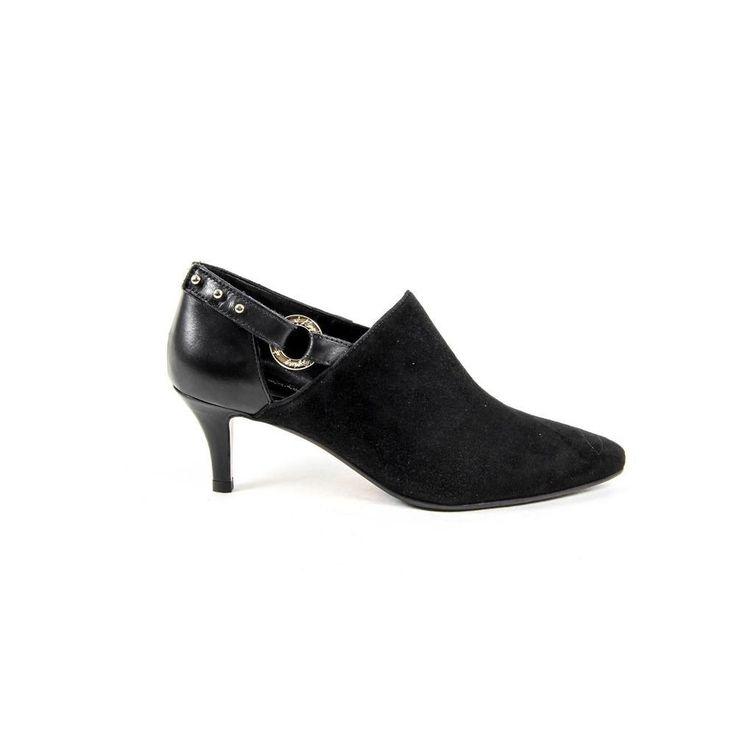37 IT - 7 US Versace 19.69 Abbigliamento Sportivo Srl Milano Italia Womens Heeled Shoe KATE CAMOSCIO NERO