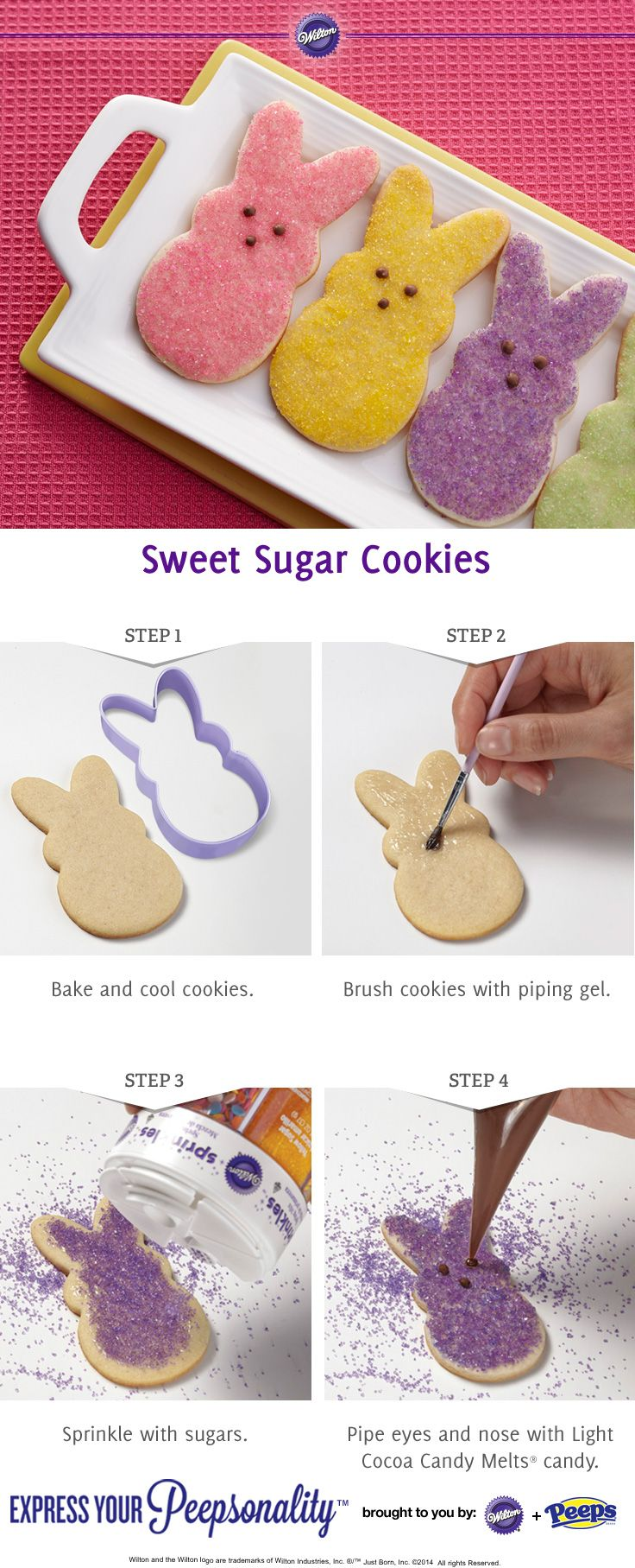 How to make Peeps Sugar Cookies from @Wilton Cake Decorating | Find Wilton products at Joann.com