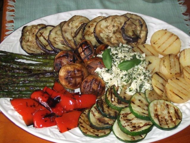 Parrillada de verduras con mozzarella macerado