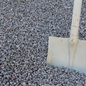 A small, crushed grey granite with hints of pink: Grey granite 10mm