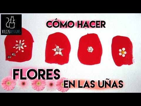 Cómo hacer flores en las uñas / how to draw flowers on your nails - YouTube