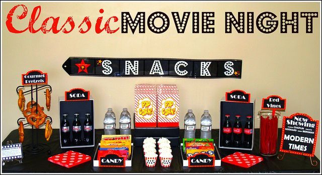 Classic movie night w/printables from Vanessa of blog 5 to 9.