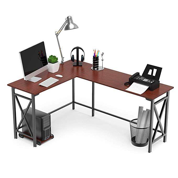 L Shaped Computer Desk 67 X 51 Walnut Corner Computer Desks 2 Piece Corner Laptop Table Home Office Desk Desktop Office Desk Corner Computer Desk Home Desk