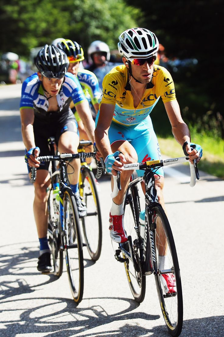 Vincenzo Nibali of Italy and the Astana Pro team in action on his way to winning the thirteenth stage of the 2014 Tour de France, a 197km stage between Saint-Etienne and Chamrousse, on July 18, 2014 in Chamrousse, France. (Photo by Bryn Lennon/Getty Images)