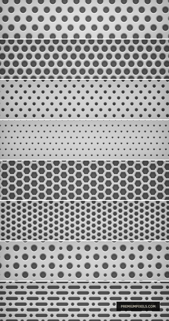 8 Light Metal Grid Patterns by ormanclark.deviantart.com on @deviantART
