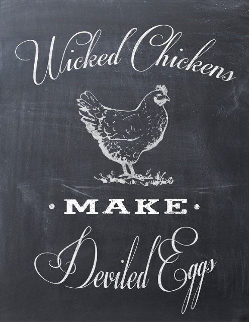 My World - Made By Hand: Wicked Chickens Make Deviled Eggs {FREE Printable}