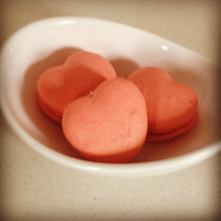 Valentines Day Macarons.