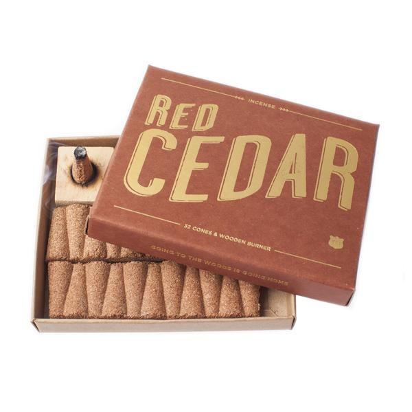 Red cedar - Incense - Izloa - Wooden Holder
