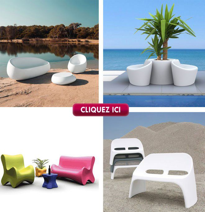 fauteuil chaise et table en plastique design petit prix d coration jardin design pinterest. Black Bedroom Furniture Sets. Home Design Ideas