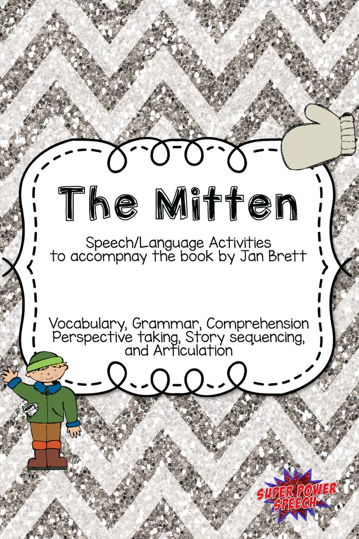 Coloring activities speech therapy - The Mitten Speech Therapy Book Companion